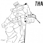 Thanos Coloring Pages by Josh Frost