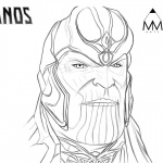 Thanos Coloring Pages by Mustafa Munir Arts