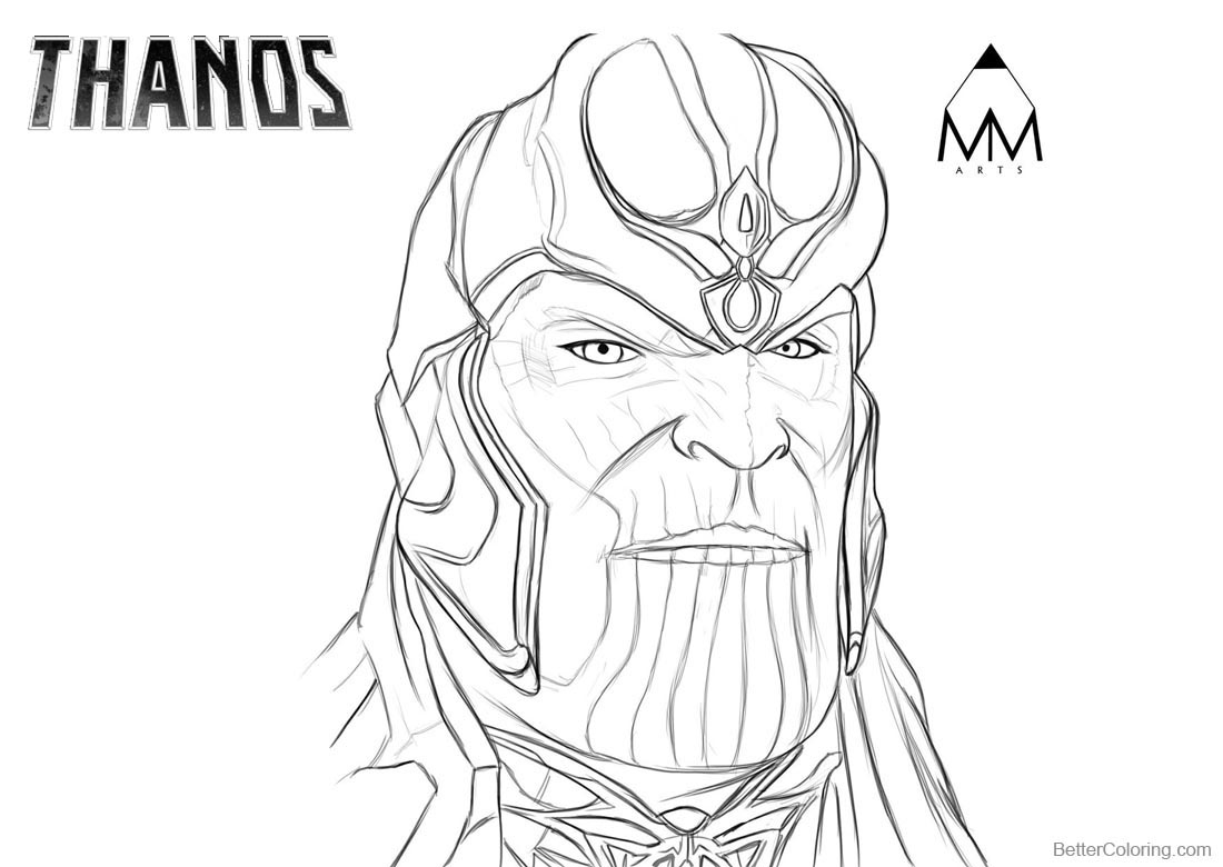 Superhero Thanos Coloring Pages: Thanos Coloring Pages By Mustafa Munir Arts