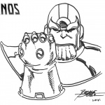 Thanos Infinity Gauntlet Coloring Pages Drawing by George Perez