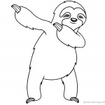 Three Toed Sloth Coloring Pages Dancing