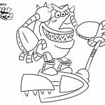 Turbo Toilet 2000 from Captain Underpants Coloring Pages
