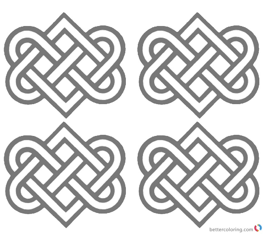 Wedding Celtic Knot Coloring Pages printable for free