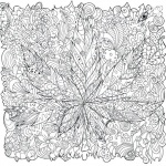 Weed Coloring Pages Adults Tattoos