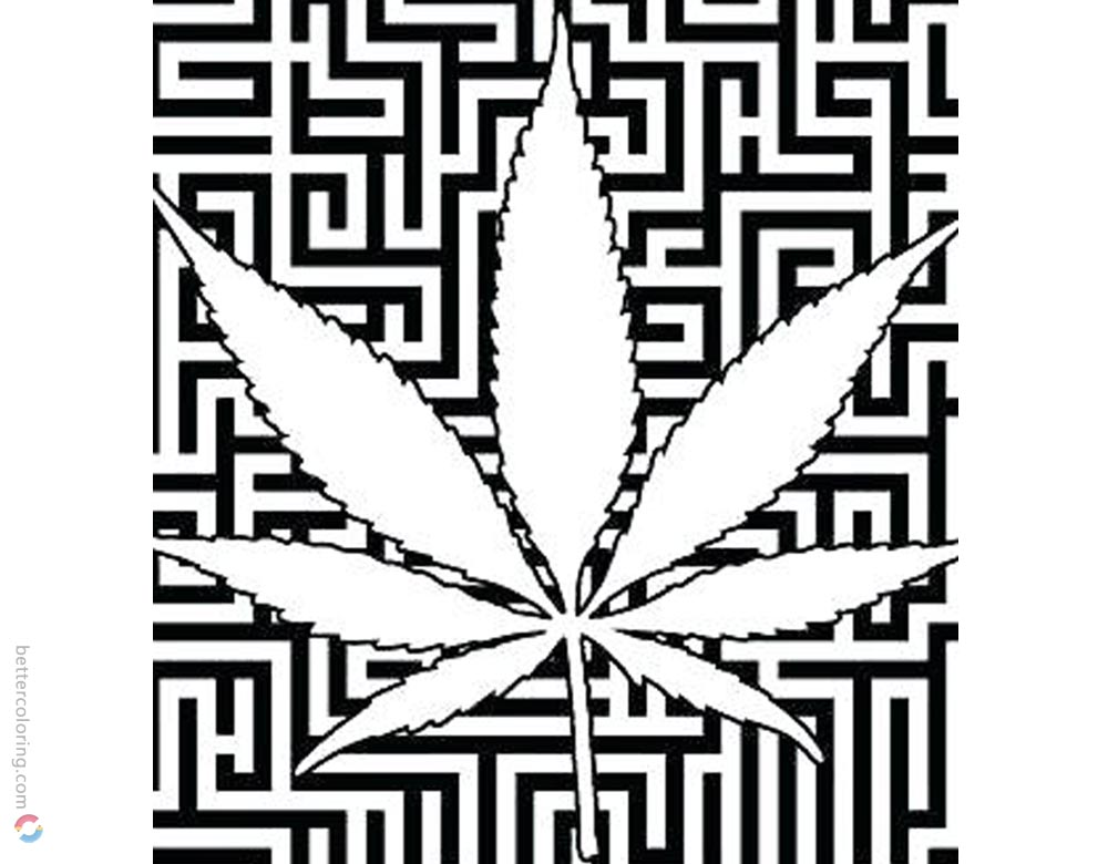 Weed Coloring Pages Cannabis Coloring Book printable for free