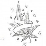 Weed Coloring Pages Cannabis Pot Weed