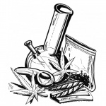 Weed Coloring Pages Hand Drawing Art