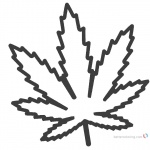 Weed Coloring Pages Marijuana Leaf Linear Drawing