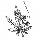 Weed Coloring Pages Marijuana Pot Leaf