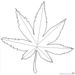 Weed Coloring Pages Marijuana Tattoos