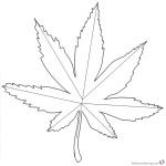 Weed Coloring Pages Marijuana Tattoos