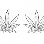 Weed Coloring Pages Two Marijuana Leaves