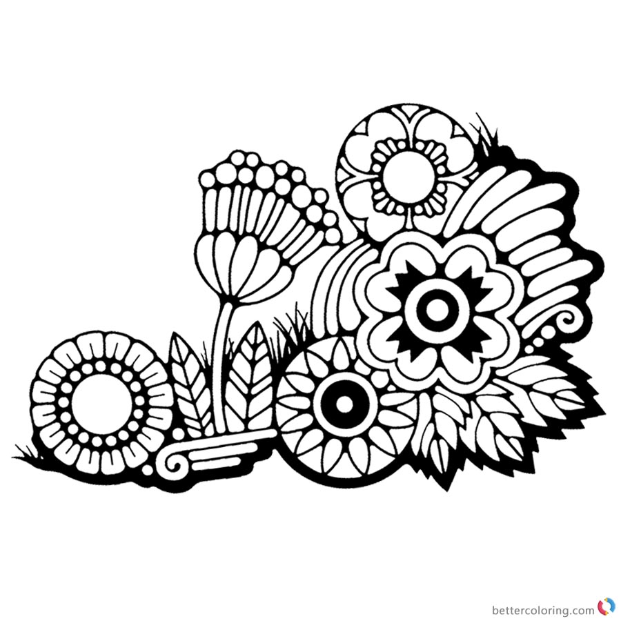flower weeds coloring pages - photo#1