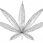 Weed Leaf Coloring Pages Cannabis Leaf Tattoos