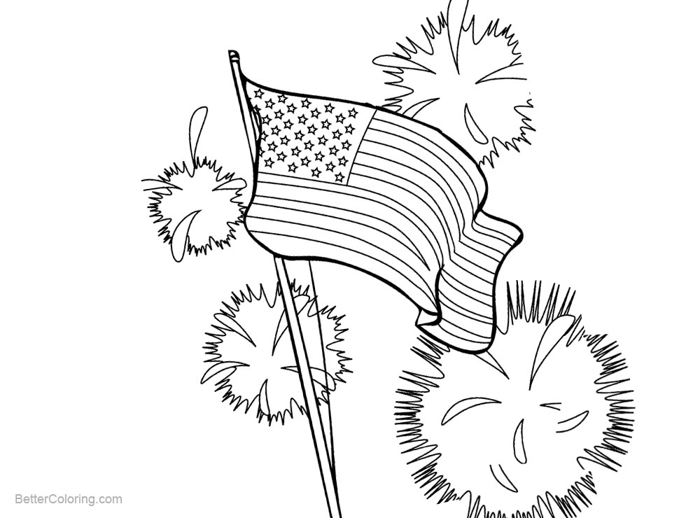 Free 4th for July Patriotic Coloring Pages printable