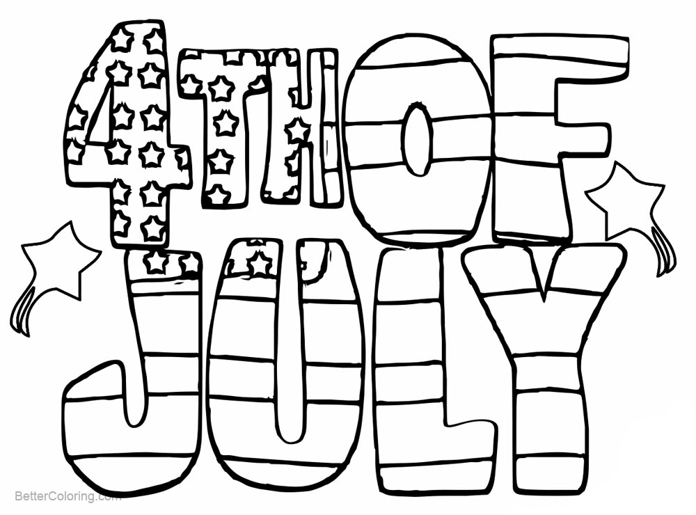 Free 4th of July Patriotic Coloring Pages printable