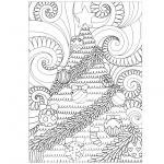 Adult Coloring Pages of Christmas Tree Pattern