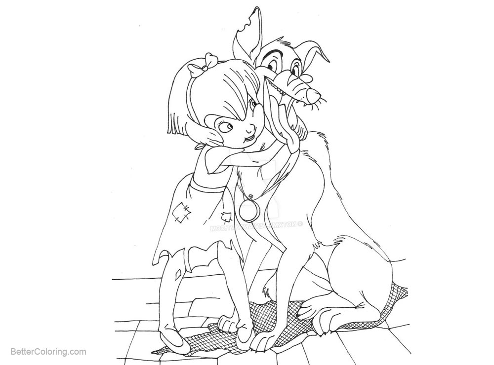 go dog go coloring pages | All Dogs go to Heaven Coloring Pages Anne Marie and ...