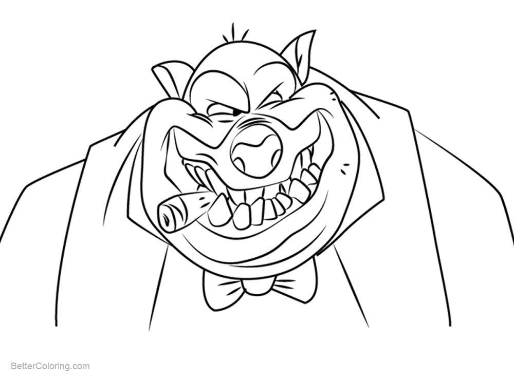 go dog go coloring pages | All Dogs go to Heaven Coloring Pages Carface Carruthers ...