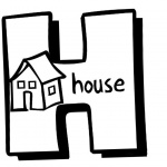 Alphabet Coloring Pages Letter H for House