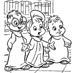 Alvin and The Chipmunks Coloring Pages Characters