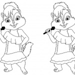 Alvin and The Chipmunks Coloring Pages Line Art