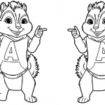 Alvin and The Chipmunks Coloring Pages Line Drawing