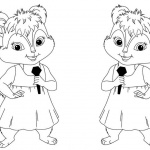 Alvin and The Chipmunks Coloring Pages Singing