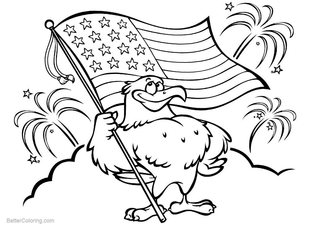 Free American Patriotic Coloring Pages printable