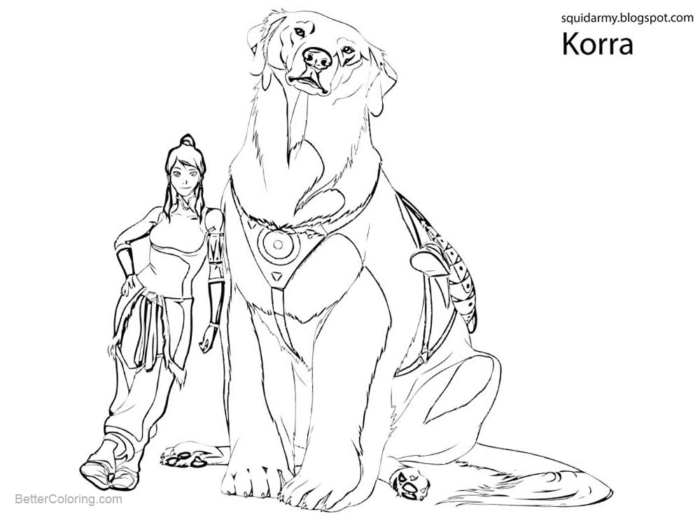 Free Avatar from The Legend Of Korra Coloring Pages printable