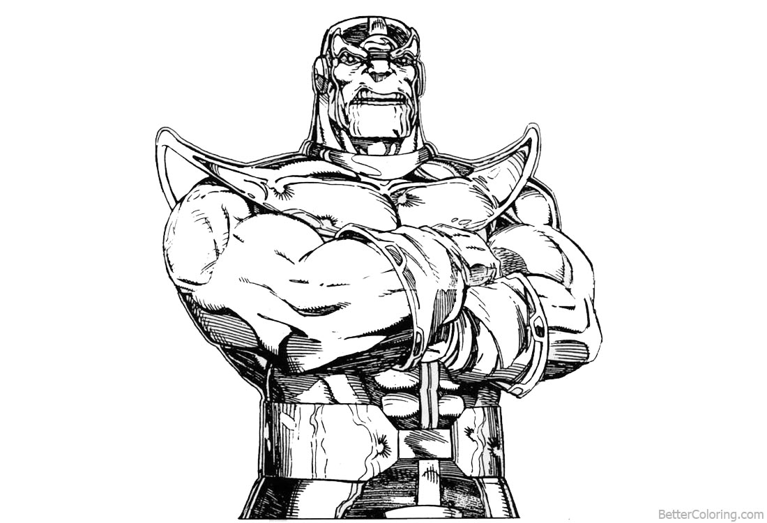 Superhero Thanos Coloring Pages: Avengers Infinity War Coloring Pages Characters Marvel