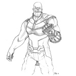 Thanos from Avengers Infinity War Coloring Pages by Andrew ...