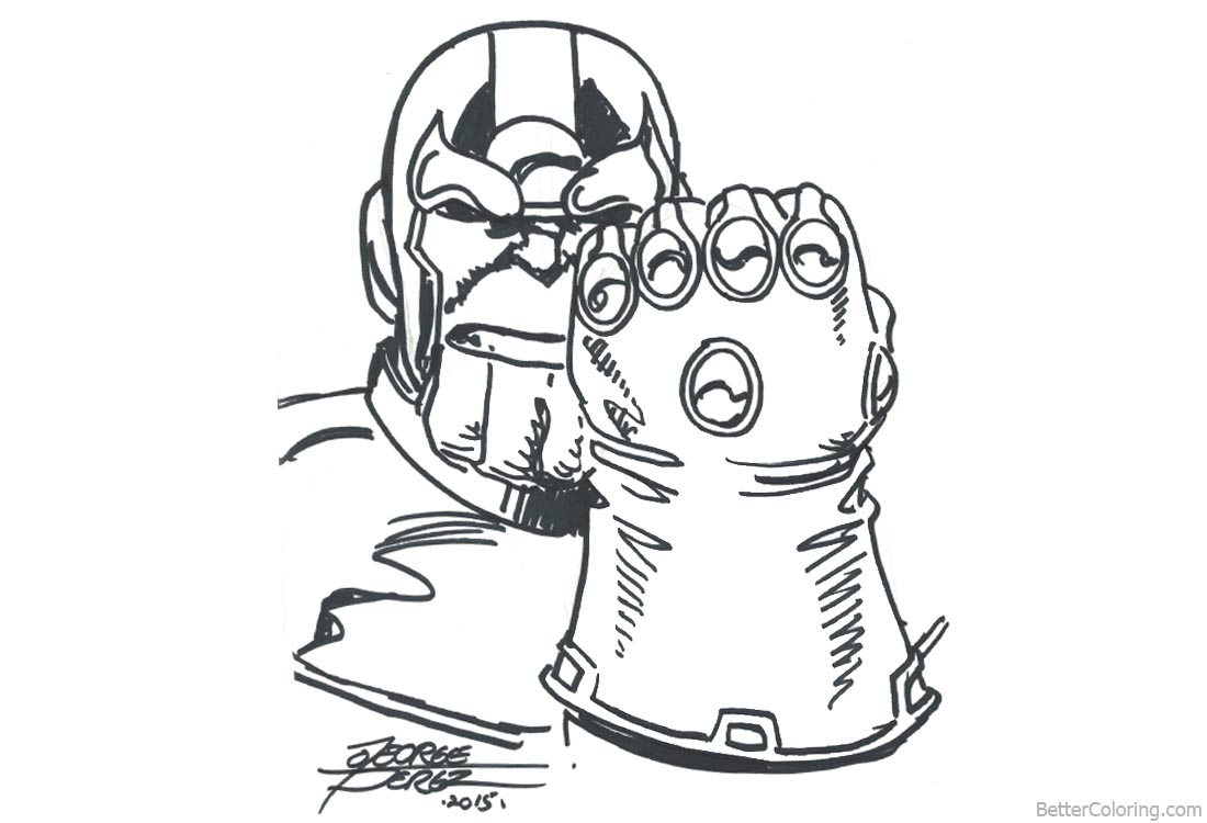 Superhero Thanos Coloring Pages: Avengers Infinity War Coloring Pages Thanos By George