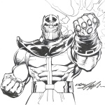 Marvel Avengers Infinity War Coloring Pages Thanos Fan Art Free