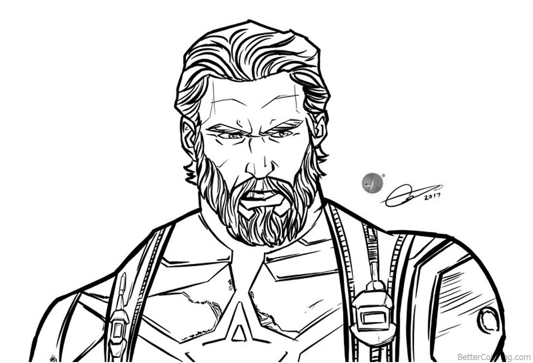 Avengers Infinity War Coloring Pages by ArtAlen333 printable for free