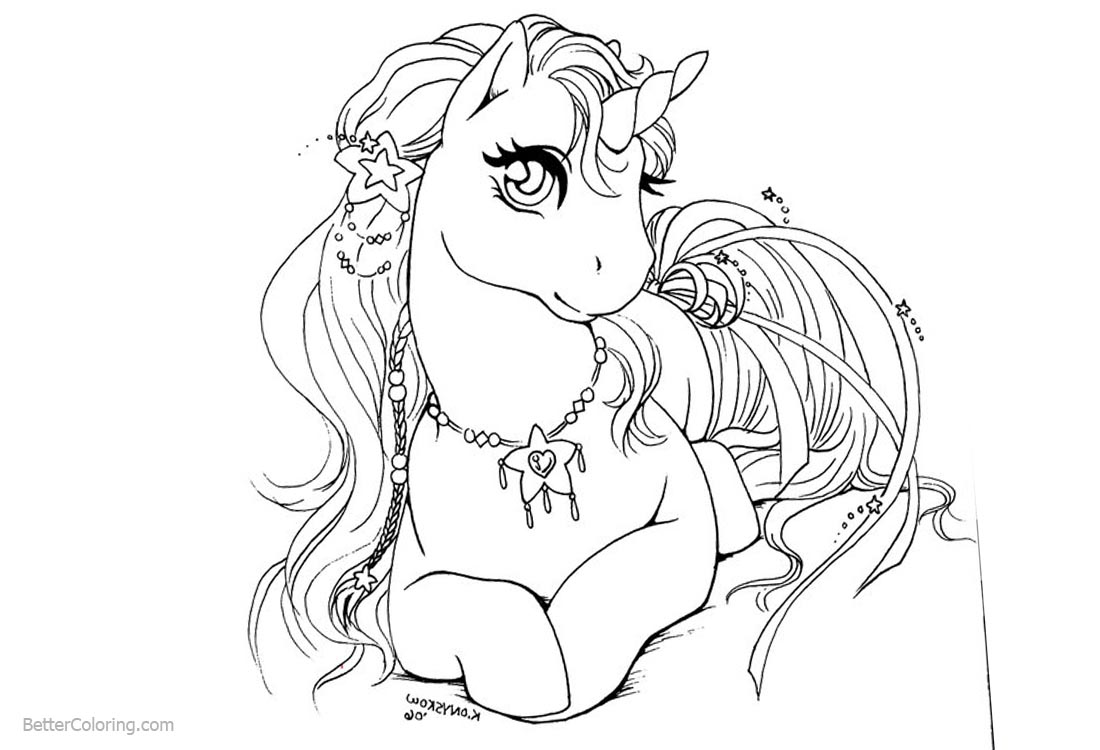awesome female unicorn coloring pages queen printable for free - Coloring Page Queen
