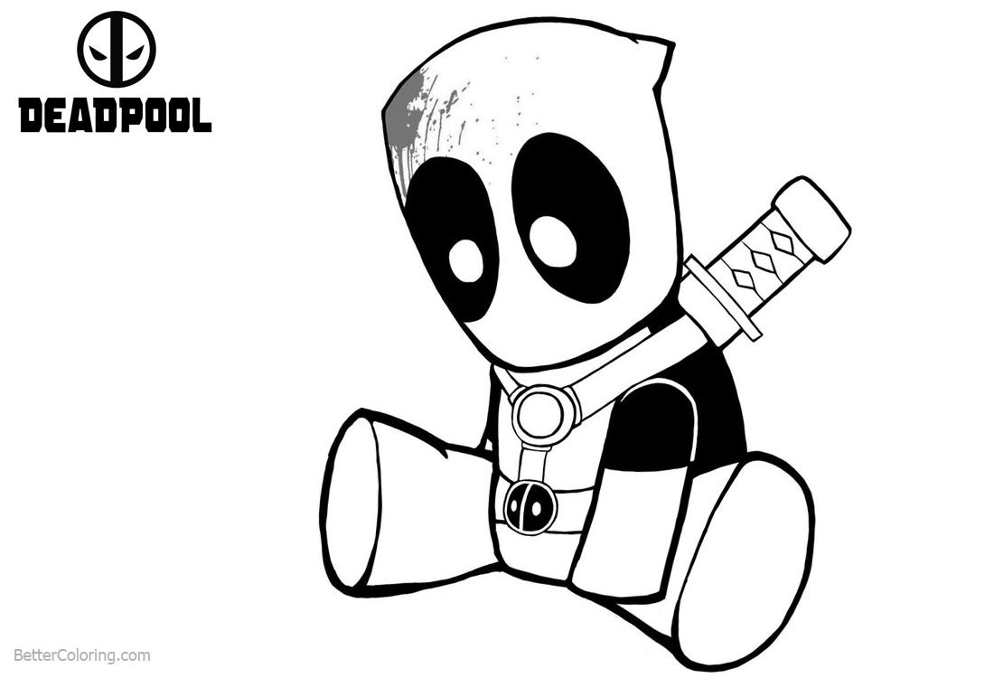 Baby Deadpool Coloring Pages by truze printable for free