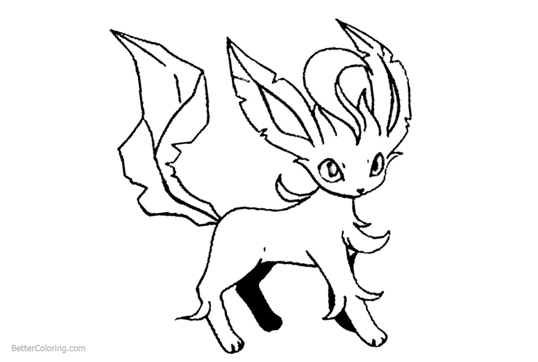 Baby Eevee Coloring Pages Free Printable Coloring Pages