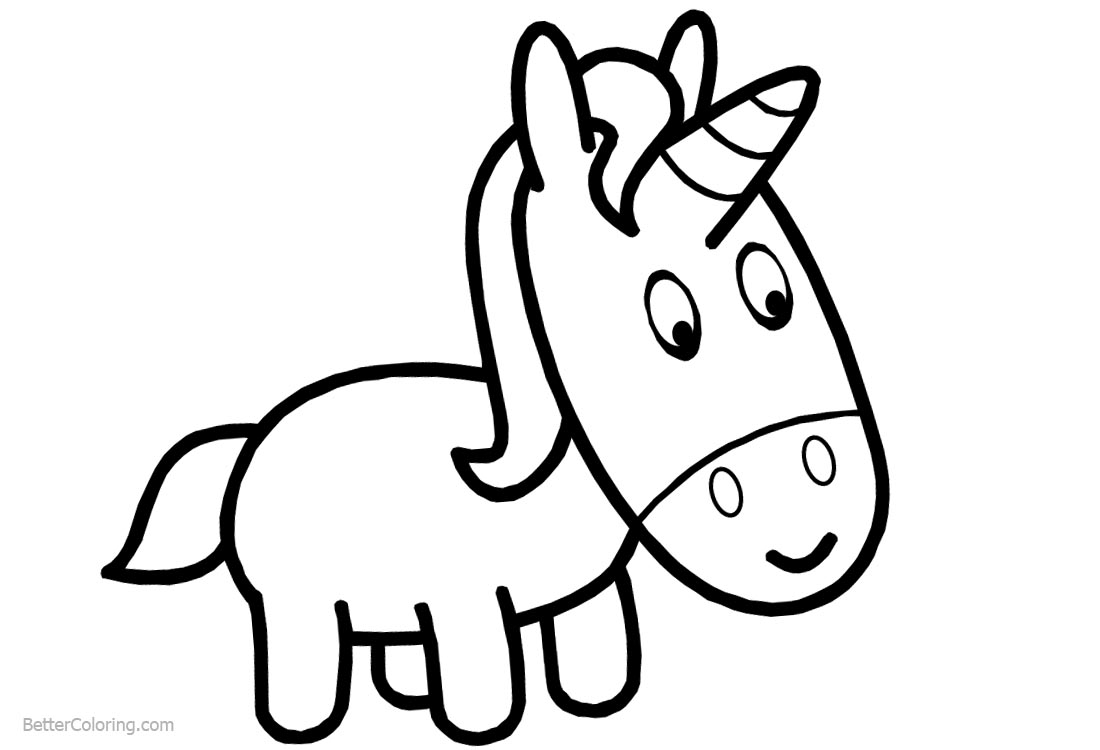 Baby Unicorn Coloring Pages - Free Printable Coloring Pages
