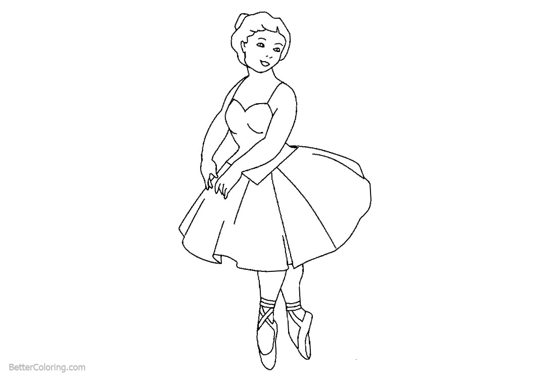 Ballerina Coloring Pages Ballet Dancer printable for free