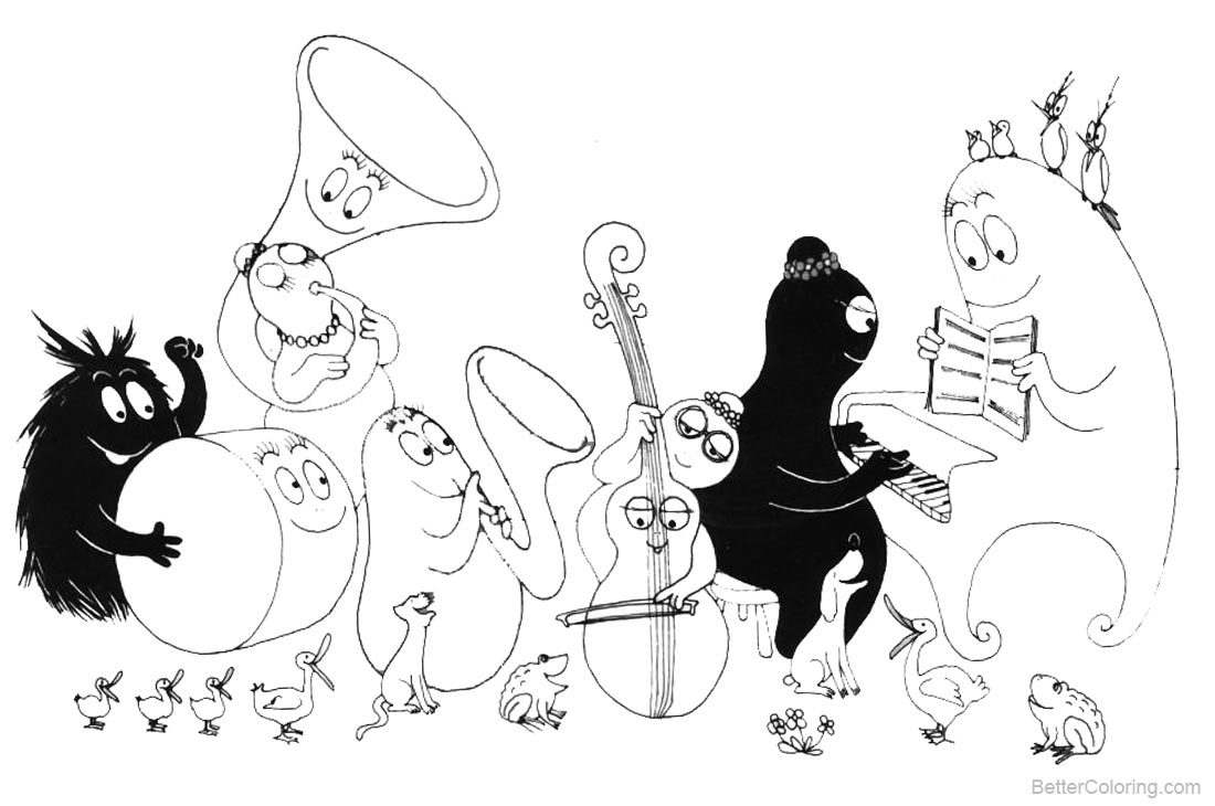 Barbapapa Coloring Pages Music - Free Printable Coloring Pages