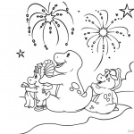 Barney Coloring Pages Beautiful Fireworks