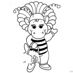 Barney Coloring Pages Bee Style