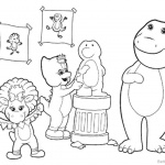 Barney Coloring Pages Black and White