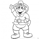 Barney Coloring Pages Bye Bye