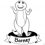Barney Coloring Pages Clipart