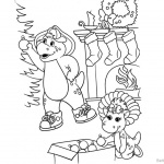 Barney Coloring Pages Happy Christmas