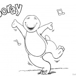 Barney Coloring Pages Hooray