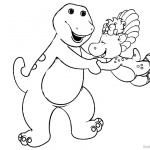 Barney Coloring Pages Play Time