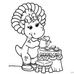 Barney Coloring Pages Prepare Tea